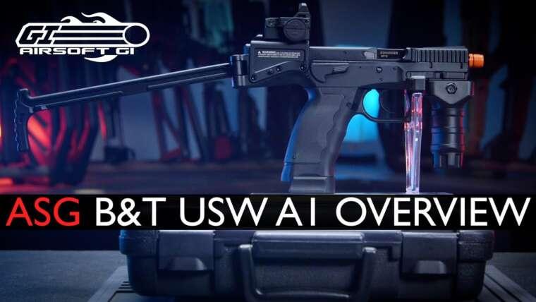 PLUS DE PISTOLET QUE DE CARBINE?!  – Pistolet à gaz B&T USW A1 par ASG |  Airsoft GI