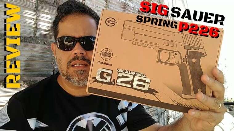 Critique – Airsoft Galaxy G26 Desert e Green – SIG SAUER P226 Spring 6mm