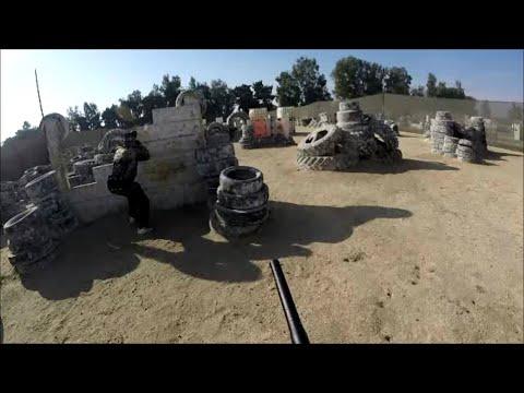 Gameplay de pistolet de paintball Mini GS chez Air Warriors Lemoore