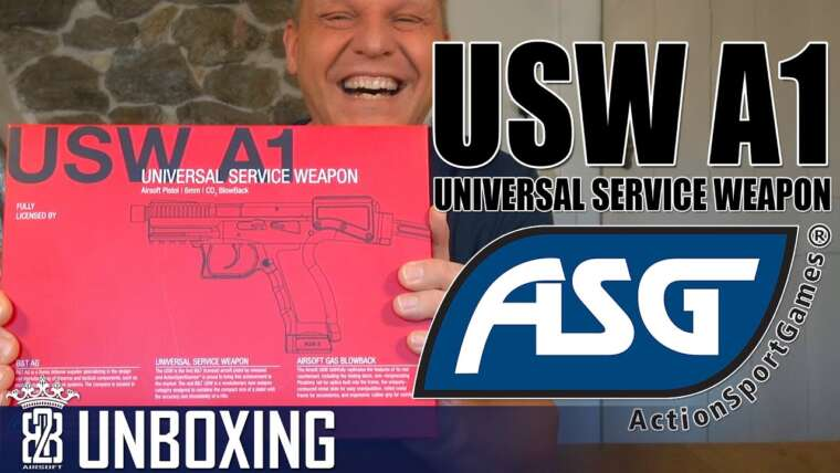 ASG B&T USW-A1 Pistol Carabine GBB Airsoft Unboxing – Allemand [ENG SUB]