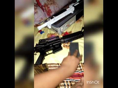 Examen, pistolet Airsoft, AEG.  INDONÉSIE