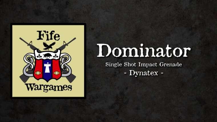 Dynatex Dominator – grenade à décharge à impact pour l'entraînement airsoft et militaire;  examen et démo