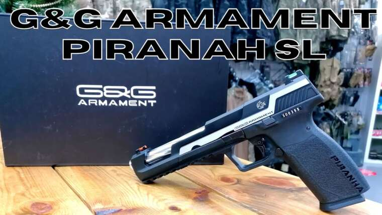 Pistolet airsoft G&G Piranha SL Gas Blowback (examen)