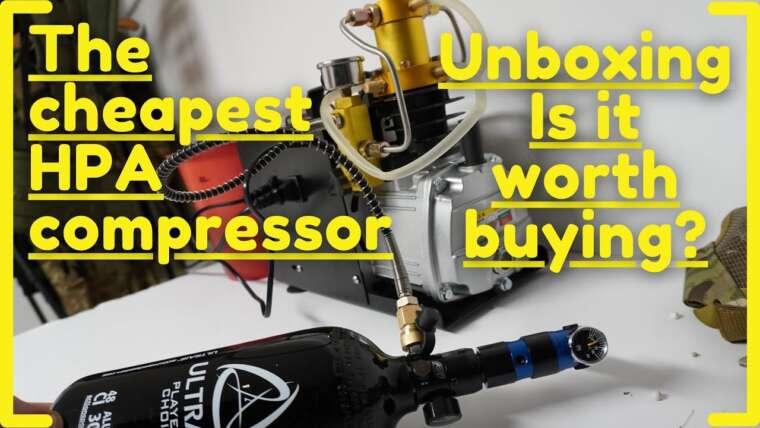 Le compresseur HPA le moins cher de Chine Unboxing / Review pour Airsoft Paintball