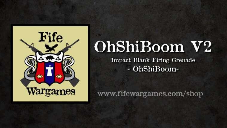 Grenade airsoft OhShiBoom, avec des bases de calibre .209, 9 mm et 12.  Revue et démo.