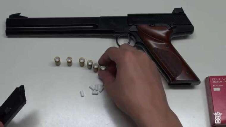 * Airsoft * Falcon Toy Colt Woodsman Match Target 6 pouces |  Allemand |