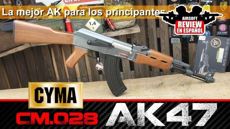 CYMA CM028 AK47 Le meilleur AK pour les DÉBUTANTS – Review & Test Shot |  Revue Airsoft en espagnol
