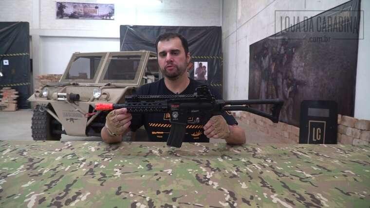 Carabine airsoft G&G GR4 100Y BlowBack – 6mm – Review Loja da Carabina