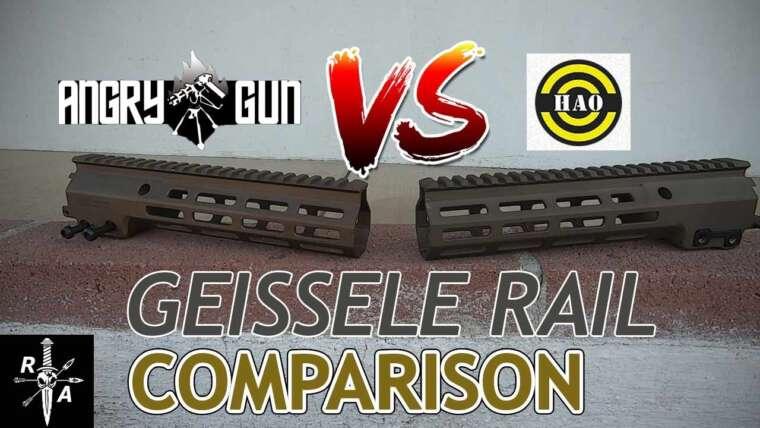 MEILLEUR Rail Airsoft GEISSELE MK16?  Angry Gun VS HAO Industries // Revue réelle de Team Reaper