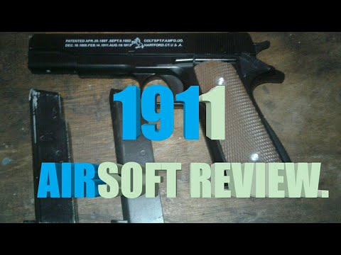 Spring Type 1911A1 Airsoft Review.  Full Metal.