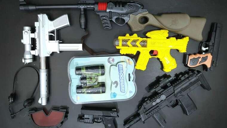 Pistolet jouet réaliste Airsoft – Balle de balle – Fusil à effet de lumière 3D – Fusils Teak 9 / Shotgun