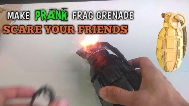 Comment faire une grenade à fragmentation avec du carton ||  Faire Prank Grenade.