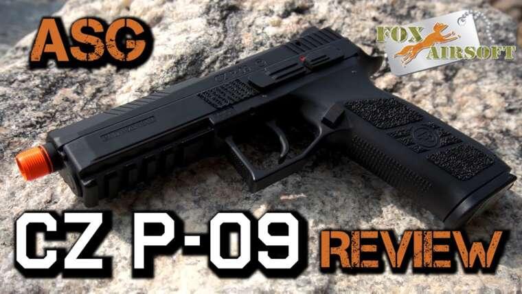 Le pistolet à gaz CO2 ASG CZ P-09 |  Fox Airsoft