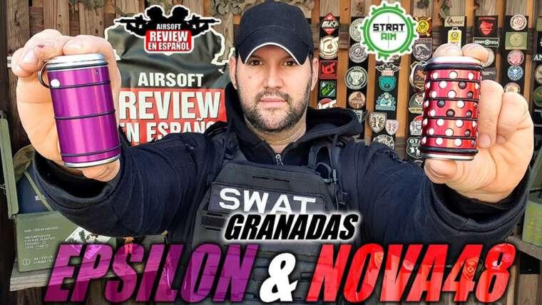 Nouvelles grenades – EPSILON et NOVA48 par StratAIM + SWEEPSTAKES |  Revue Airsoft en espagnol