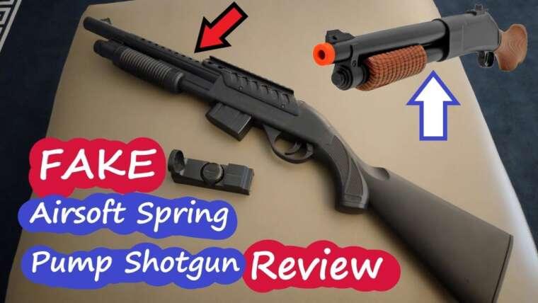Airsoft Tactical Plastic Shotgun SPRING POWERED AIRSOFT Pump Gun Review