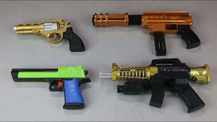 Pistolet jouet réaliste Airsoft – Pistolet jouet balle balle tireur – Jouets d'arme à ressort à granulés – Examen des armes à feu