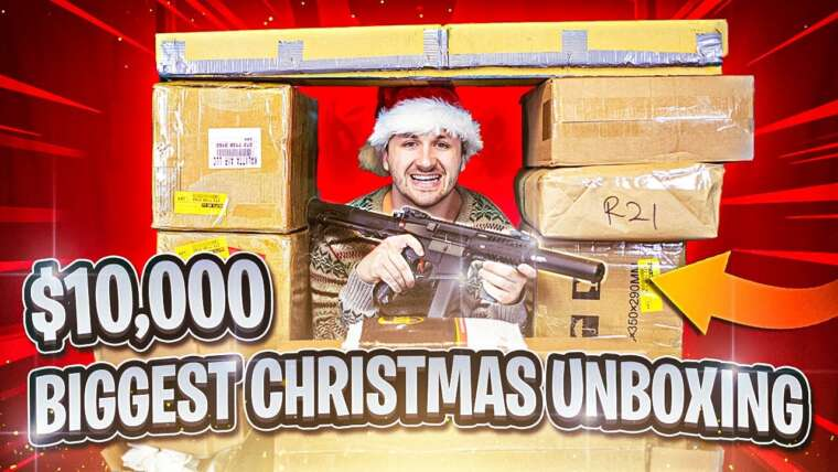BIGGEST AIRSOFT UNBOXING 10 000 $ DÉBALLAGE DE NOËL 2020!