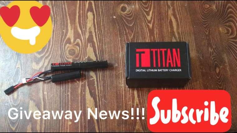 Revue de la batterie Airsoft Titan (Giveaway News !!!)
