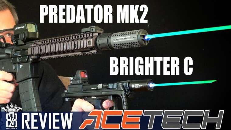 Acetech Brighter C Airsoft Tracer Unit & Predator MKII Review Deutsch