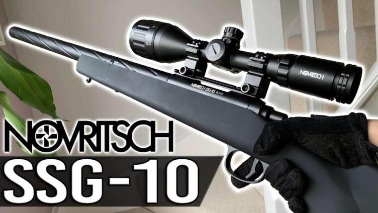 Novritsch SSG-10 |  Meilleur Sniper Airsoft STARTER?!  |  Airsoft Unboxing et examen