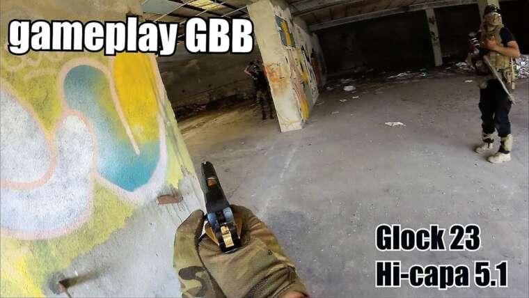 Airsoft # Gameplay GBB # Glock23 / Salut Capa