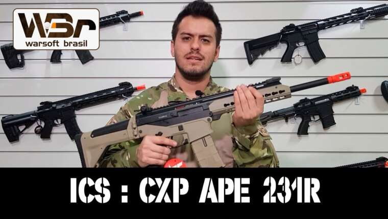 EXAMEN AIRSOFT AEG ICS CXP APE 231R – WARSOFT BRASIL