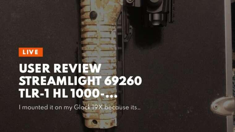 Avis d'utilisateur Streamlight 69260 TLR-1 HL 1000 Lumen Support d'arme tactique avec rail Loc …