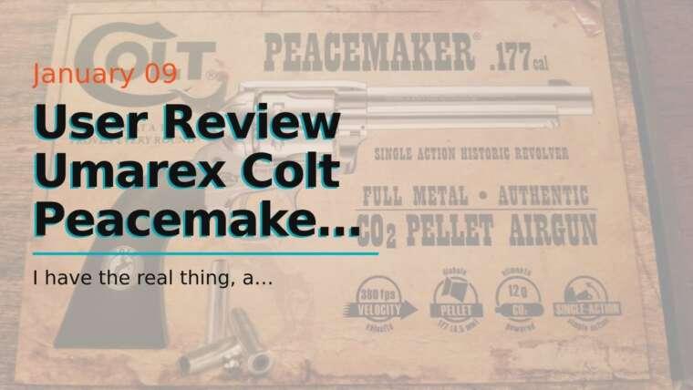 Avis utilisateur Umarex Colt Peacemaker Revolver Single Action Army Six-Shooter .177 Calibre Air …