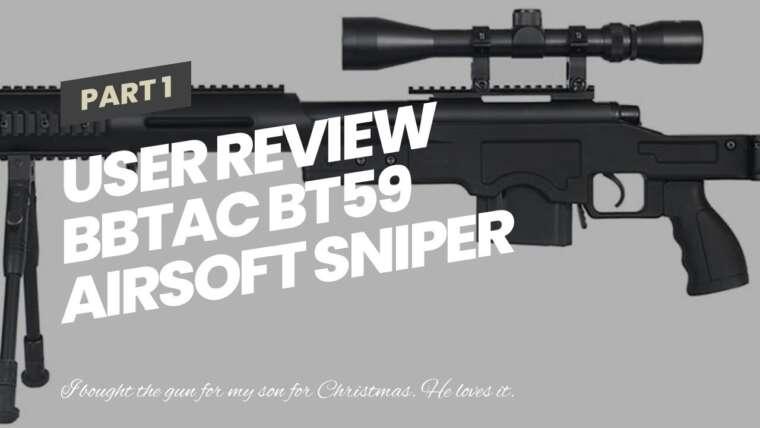 Revue de l'utilisateur Bbtac BT59 Airsoft Sniper Rifle Bolt Action Type 96 Airsoft Gun avec 3x fusil s …