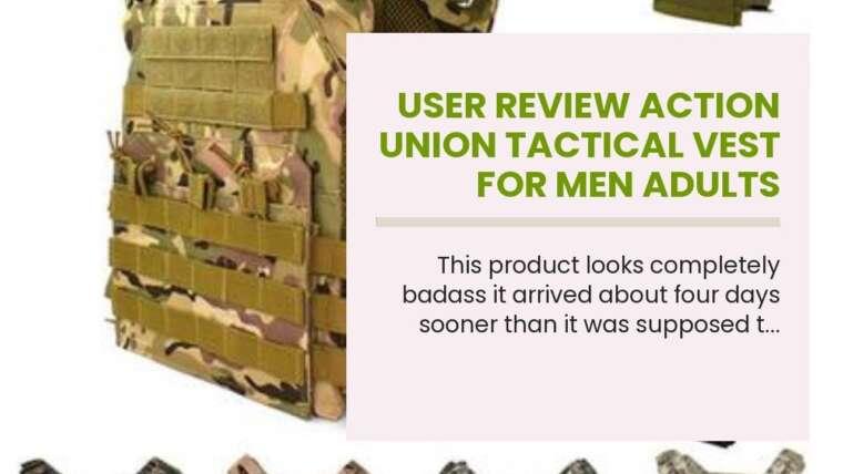 Avis utilisateur Gilet tactique Action Union pour hommes adultes Gilet de paintball réglable Airsoft Com …