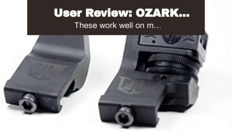 Avis d'utilisateur: OZARK ARMAMENT Sites de sauvegarde rabattables décalés à 45 degrés – Picatinny Mount BUIS