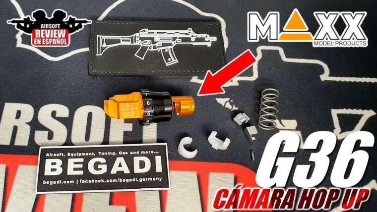 Caméra modèle Hop Maxx pour G36 par: Begadi |  Revue Airsoft en espagnol