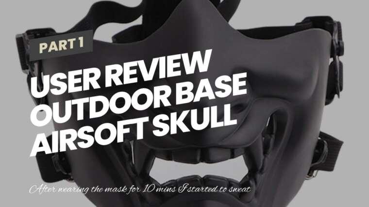 Revue de l'utilisateur Outdoor Base Airsoft Skull Mask Masque complet tactique avec protection oculaire pour …