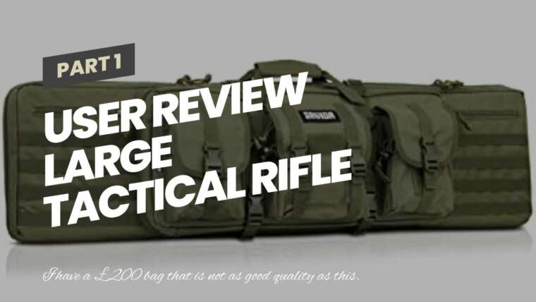 Avis utilisateur Grand étui pour fusil tactique Sac de pistolet rembourré MOLLE Airsoft Tir Chasse Olive
