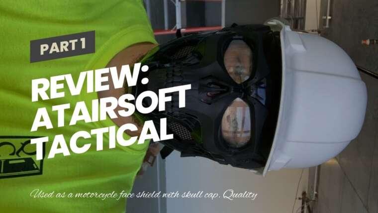 Revue: ATAIRSOFT Masque complet de protection tactique réglable avec crâne pour Airsoft Paintball Cos …