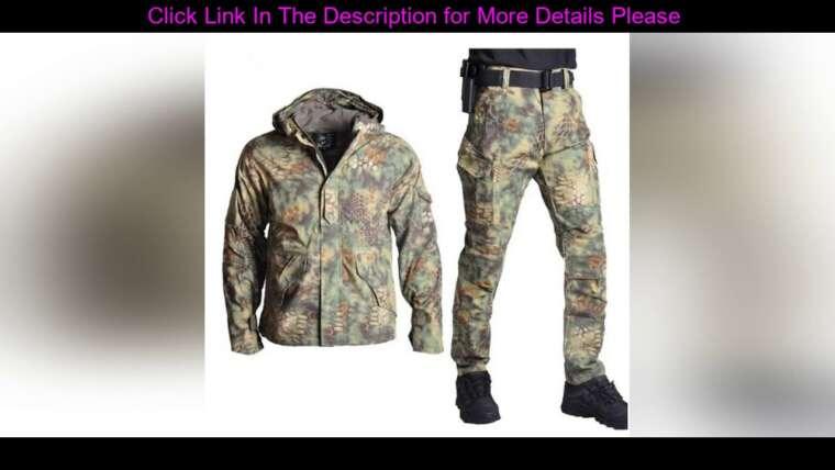#Review Hommes Outdoor G8 Airsoft Chasse Costume Veste Ensemble avec Pantalon Camouflage Militaire Armée Tactique