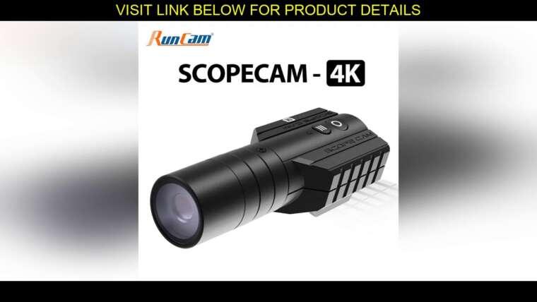 Évaluer RunCam Scope Cam 4K Airsoft 1080P120fps Enregistrement Ultra HD WiFi intégré 850mAh ScopeCam Hun