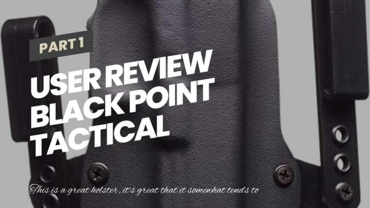 Revue de l'utilisateur Black Point Tactical Standard OWB Holster pour Glock 19/23/32, droitier, noir …