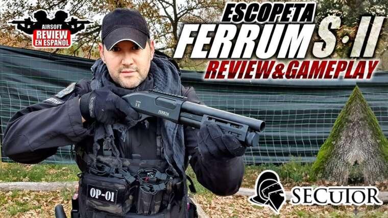 Petit, polyvalent et mortel!  Shotgun VELITES FERRUM S · II de Secutor |  Revue Airsoft en espagnol
