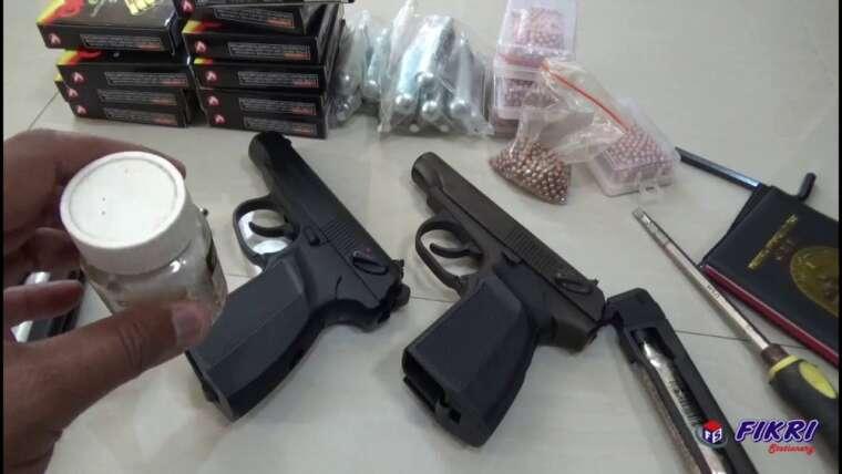 airgun softgun baikal makarov comparaison de ori et kw, comment supprimer le magazine, contenu de balle, gaz co