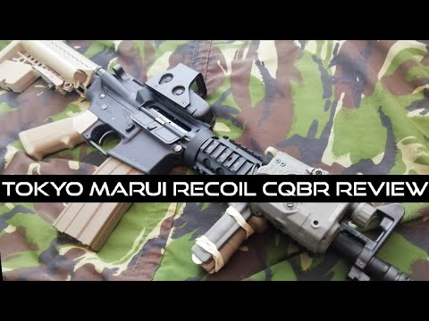 Incroyable qualité (Tokyo Marui Airsoft M4 CQBR Recoil Shock AEG Review)