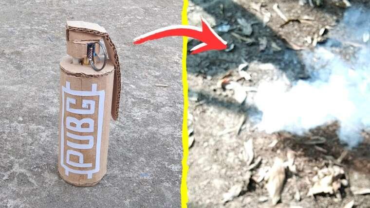 Comment faire une bombe fumigène en utilisant des allumettes |  Bombe fumigène facile et simple |  DIY