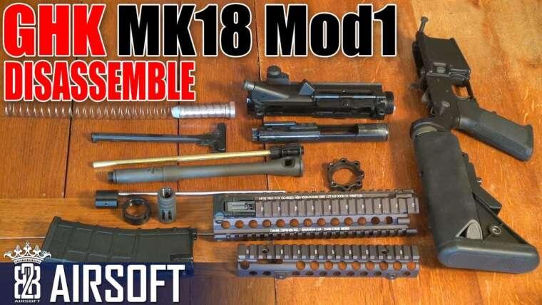 Démonter GHK MK18 MOD.1 GBB Airsoft – Deutsch