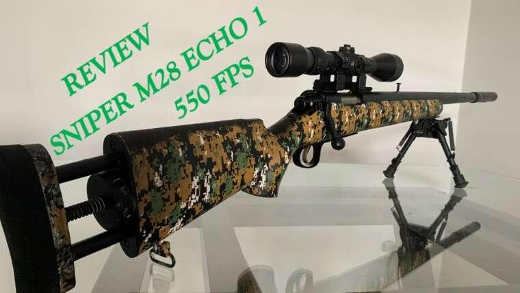 REVUE SNIPER M28 ECHO 1 |  PEINTURE HYDROGRAPHIQUE WTP AIRSOFT