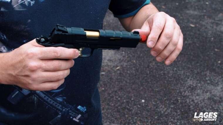 Revue du pistolet Airsoft 1911 REDWINGS de Rossi