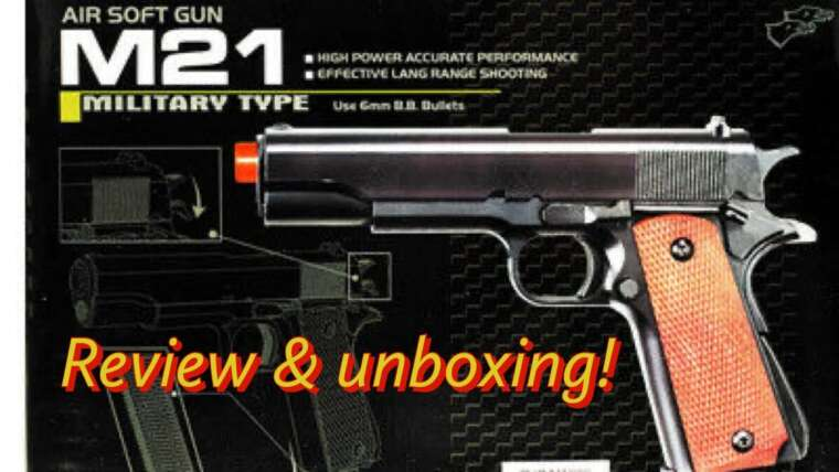 Pistolet Airsoft de type militaire M21 (REVUE)