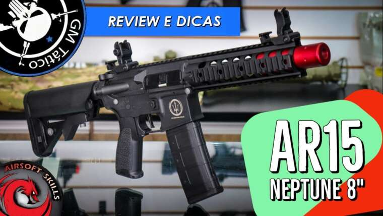 REVUE |  GM TACTICAL |  AIRSOFT |  AR15 NEPTUNE 8 POUCES ROSSI