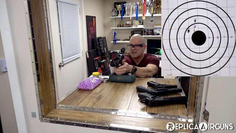 BB – Pellet – Airsoft – Test de puissance et de précision du pistolet de paintball