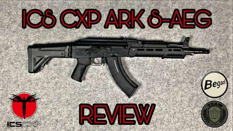 [REVIEW] ICS CXP ARK S-AEG AKM avec Begadi CORE EFCS, Tienly 25k, 6mm Airsoft Test deutsch TEAM-030-