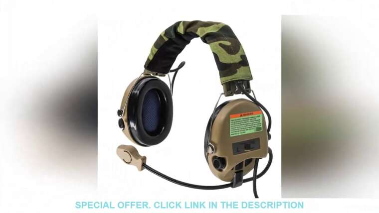 ▶ ️ [Price] Casque tactique Softair Sordin Headset Pickup casque antibruit Hunting Airsoft Review